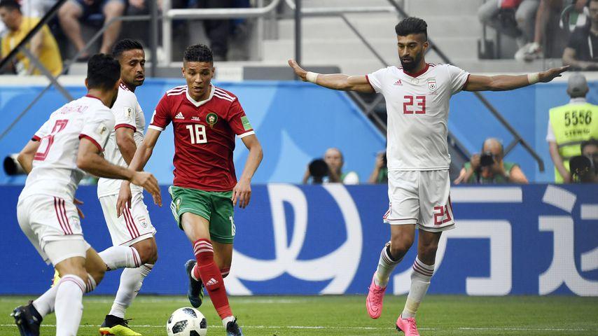 Amine Harit beim Spiel Marokko gegen Iran