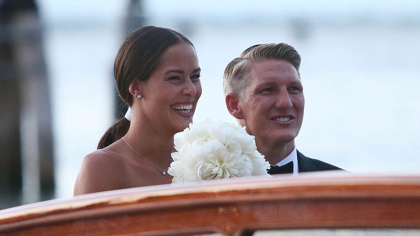 Ana Ivanovic und Bastian Schweinsteiger bei ihrer Hochzeit in Venedig