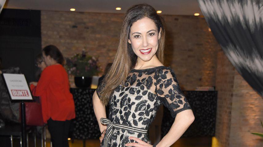 TV-Star Anastasia Zampounidis auf der Berliner Fashion Week
