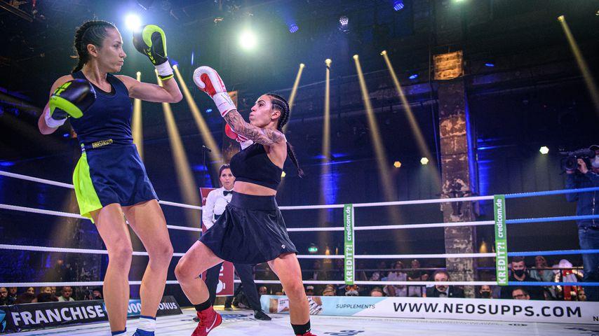 Anastasiya Avilova und Elena Miras beim Promiboxen