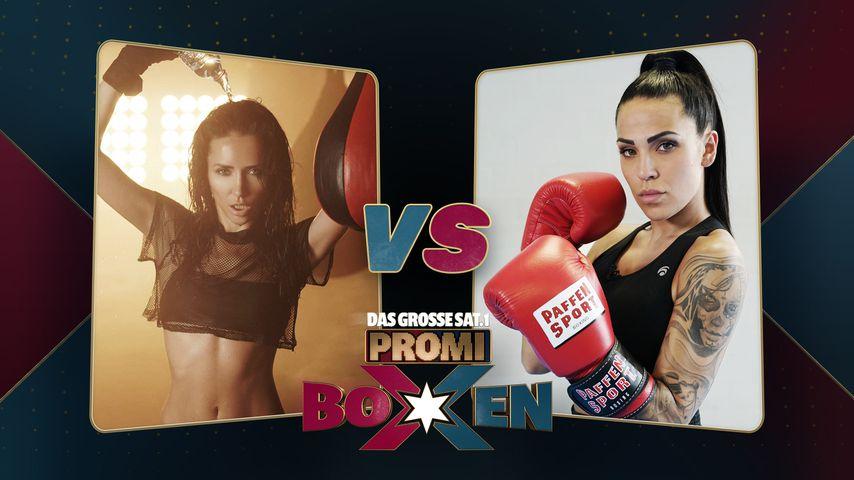 Anastasiya Avilova und Elena Miras, Kandidatinnen beim Promiboxen 2020