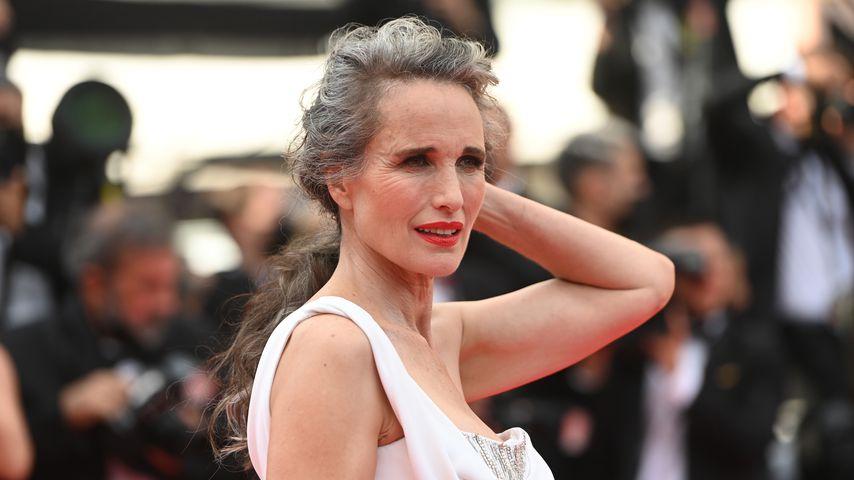 Andie MacDowell beim Filmfestival in Cannes, Juli 2021