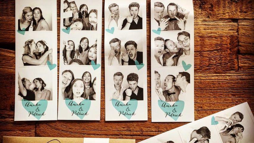 André Dietz und seine Freunde und Frau auf Fotos von einer Hochzeit