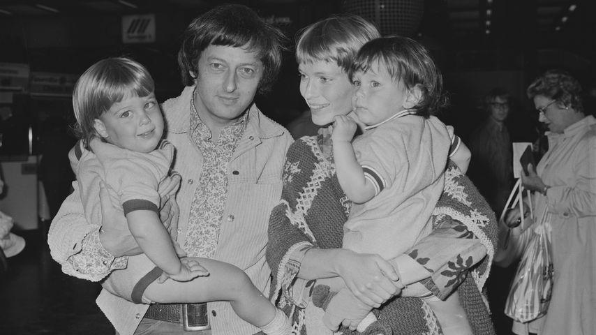 André Previn, Mia Farrow und die Zwillinge Matthew und Sascha