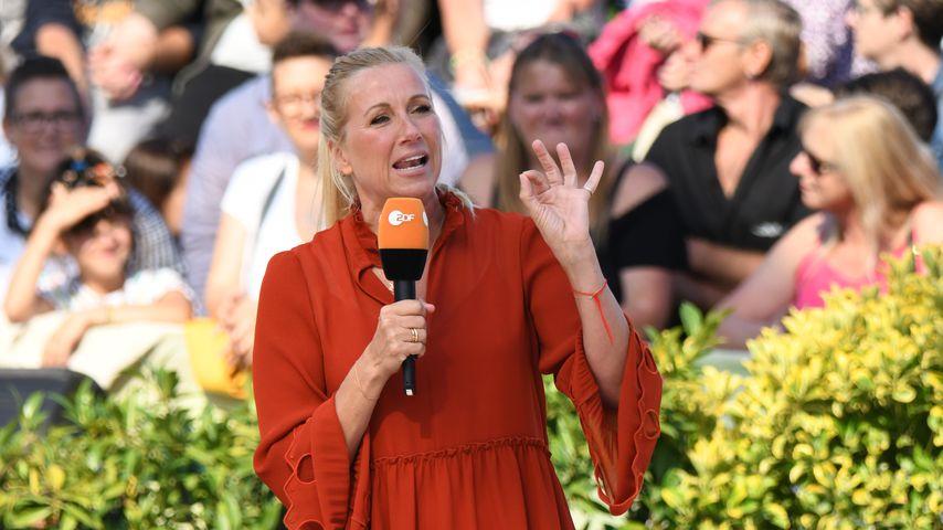"""Moderatorin Andrea Kiewel beim """"ZDF-Fernsehgarten"""""""