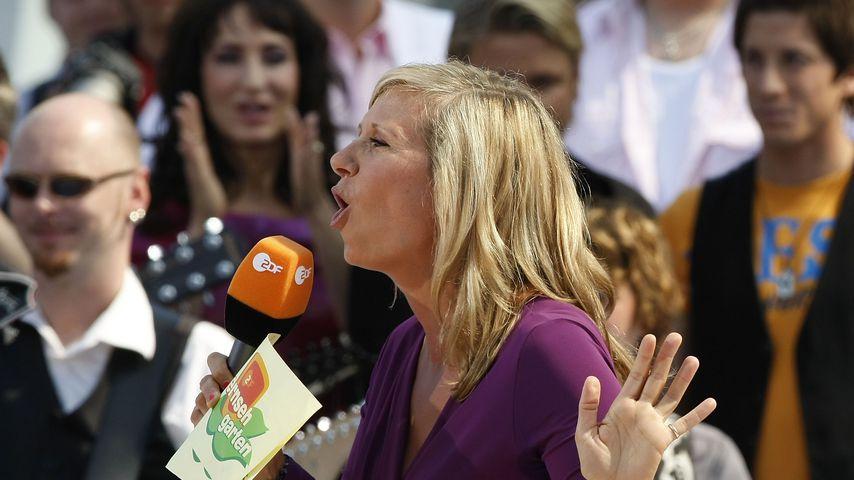 Moderatorin Andrea Kiewel im ZDF-Fernsehgarten