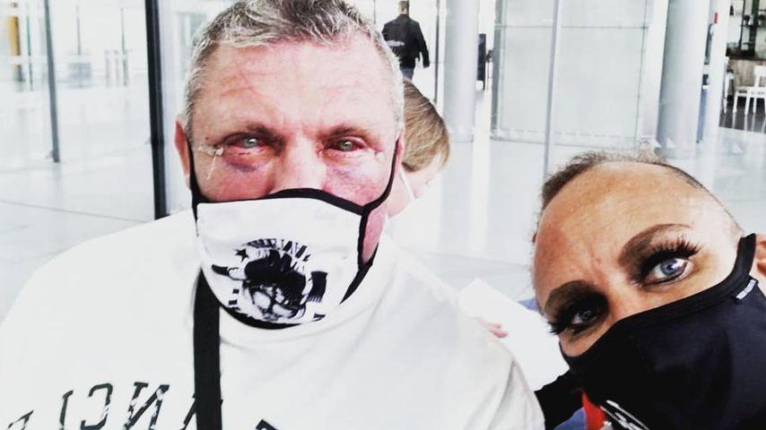 Andreas und Caro Robens am Flughafen