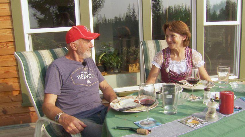Andreas und Ingeborg beim Abendessen