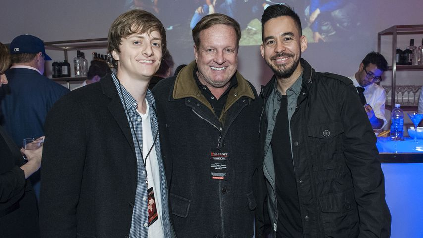 Andrew Burkle, Ron Burkle and Mike Shinoda, November 2015
