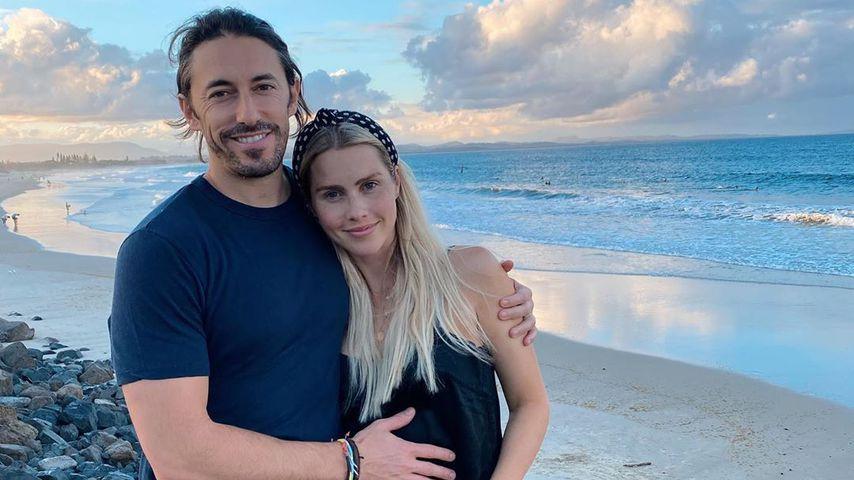 Andres Joblon und seine Frau Claire Holt in Byron Bay im Dezember 2019