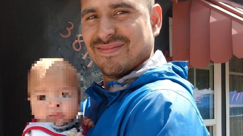 Angel Hernandez Grado mit seinem Sohn