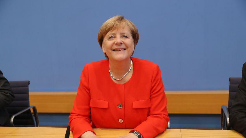 Angela Merkel auf der Bundespressekonferenz im August 2017 in Berlin