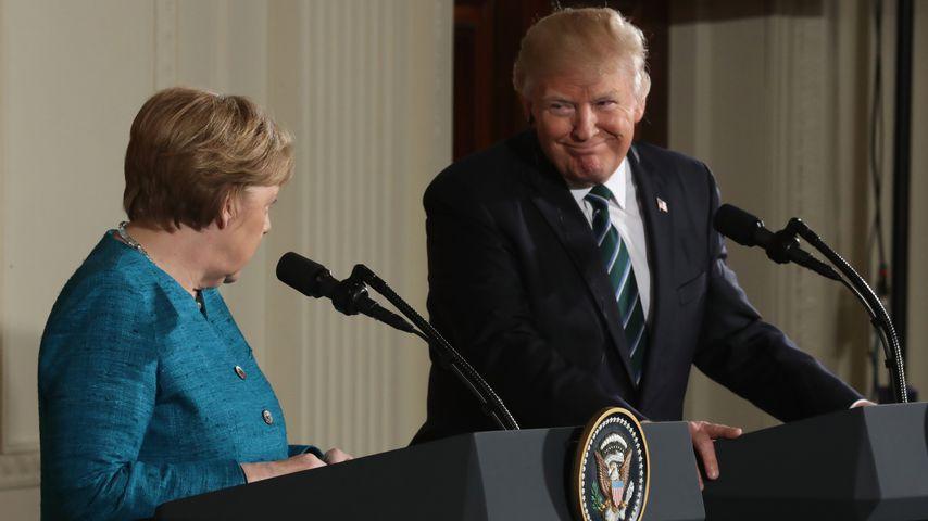 #merkeltrump: Twitter-Gemeinde lästert über Donald Trump!