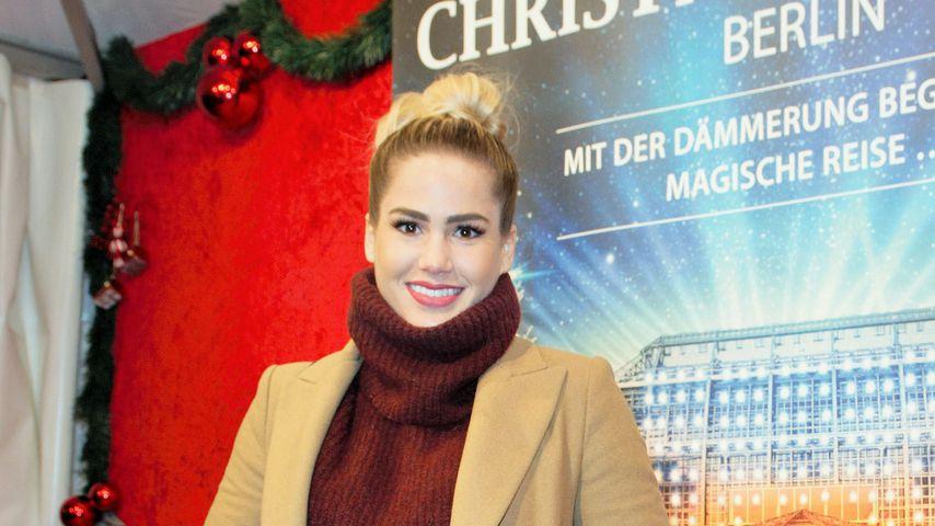Angelina Heger bei der Eröffnung des Christmas Garden