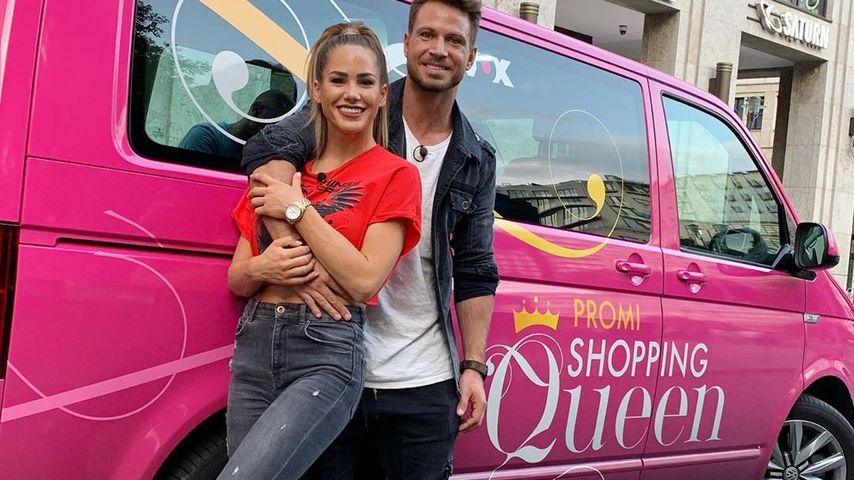 """Angelina Heger und Sebastian Pannek bei """"Promi Shopping Queen"""""""