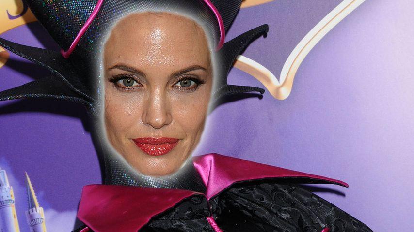 Angelina Jolie setzt sich die fiesen Hörner auf