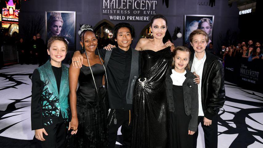 Angelina Jolie mit ihren Kindern im September 2019