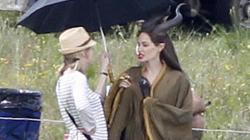 Heimliche Fotos: Angelina Jolie als Maleficent