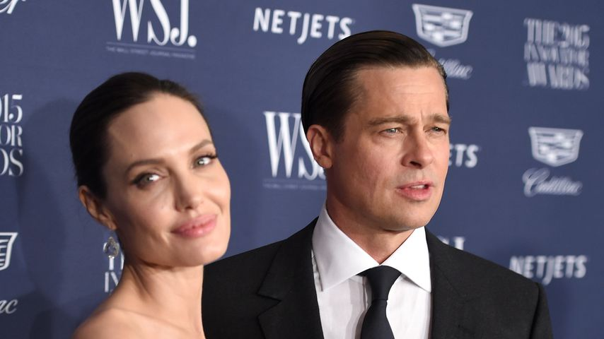 Angelina Jolie und Brad Pitt, November 2015