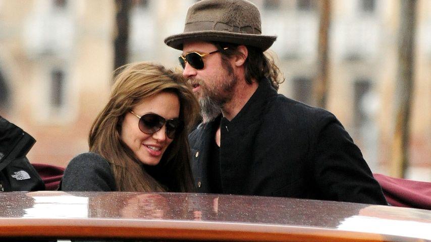 """Angelina Jolie und Brad Pitt im Rahmen von Angelinas """"The Tourist""""-Dreharbeiten in Venedig"""
