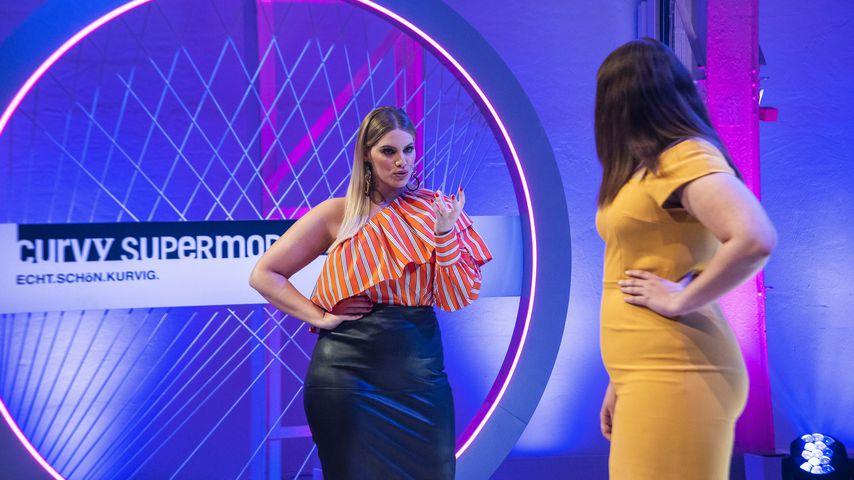 "Angelina Kirsch mit Kandidatin Adina bei ""Curvy Supermodel"""
