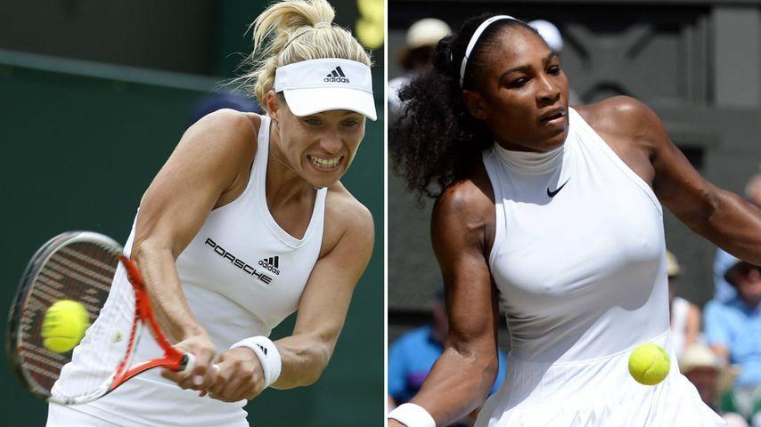 Tennis-Stars Angelique Kerber und Serena Williams