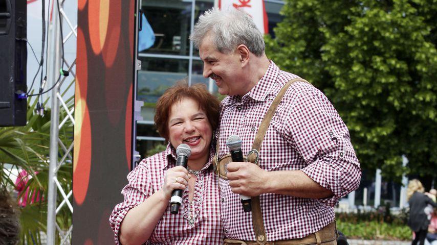 Anja und Bruno Rauh beim Musikkarussell im Elbpark, Dresden 2019