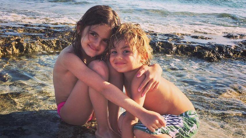 Anja und Noah Ambrosio Mazur auf Ibiza