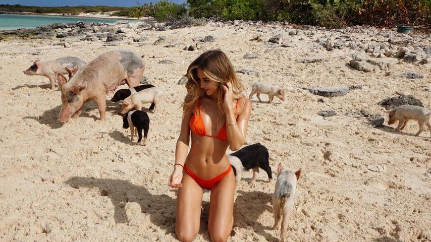 Ann-Kathrin Brömmel auf den Bahamas
