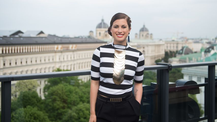 Ann Sophie in Wien bei einem ESC-Pressetermin