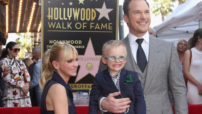 "Anna Faris, Jack Pratt und Chris Pratt bei der ""Walk Of Fame""-Ehrung in Hollywood 2017"