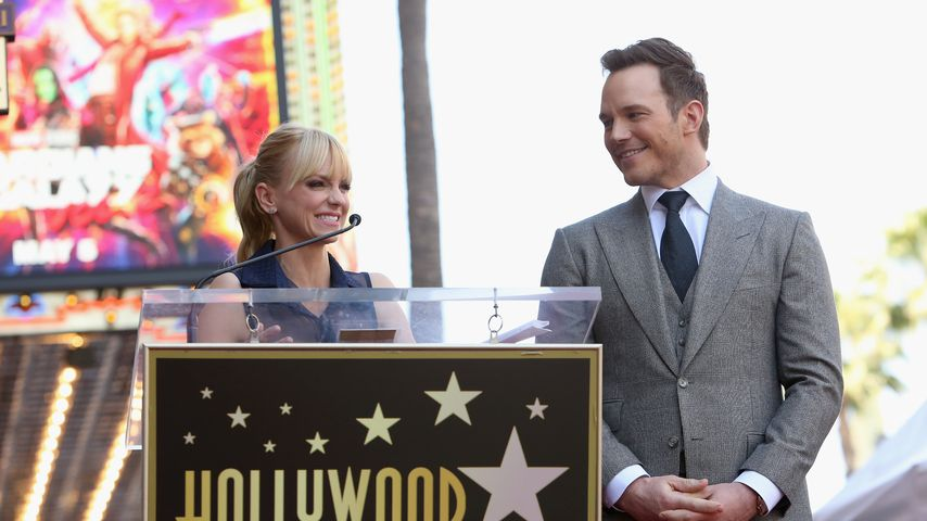 Anna Faris und Chris Pratt bei der Walk Of Fame Star Ceremony im April 2017