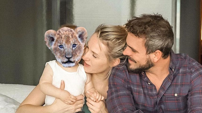 Anna Hofbauer und Marc Barthel mit ihrem Sohn