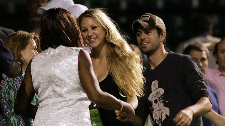 Anna Kournikova und Enrique Iglesias 2009 bei den Sony Ericsson Open