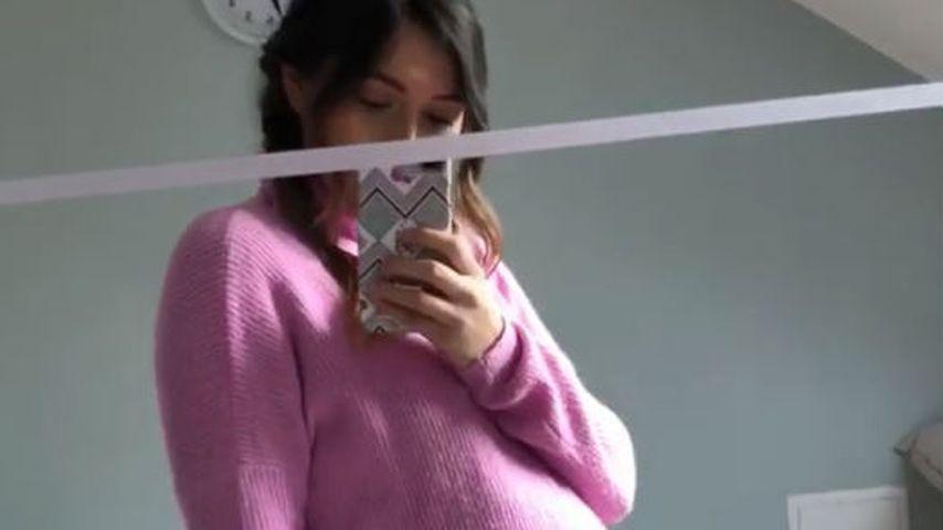 Anna Maria Damm in der 27. Schwangerschaftswoche