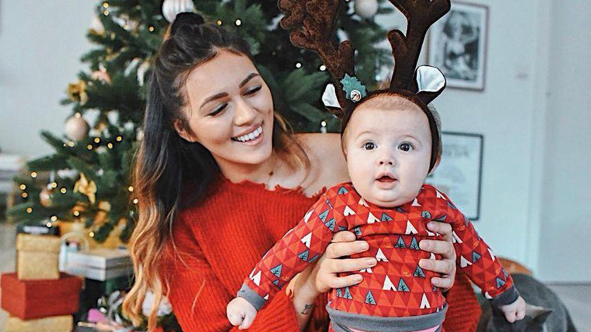 Anna Maria Damm und Tochter Eliana an Weihnachten 2018