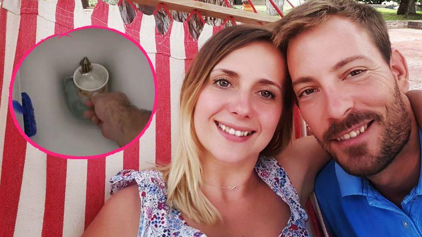 Anna Heiser und Bauer Gerald retten einen Frosch aus dem WC!