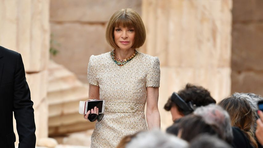 "Anna Wintour bei der ""Chanel Cruise""-Modenschau in Paris, 2017"
