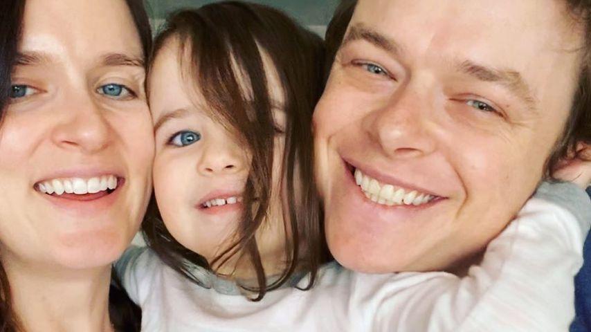 Anna Wood mit Tochter Bowie und ihrem Mann Dane DeHaan im März 2020