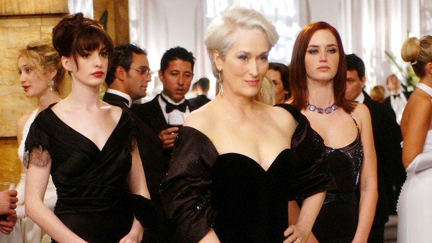 """Anne Hathaway, Meryl Streep und Emily Blunt in """"Der Teufel trägt Prada"""""""