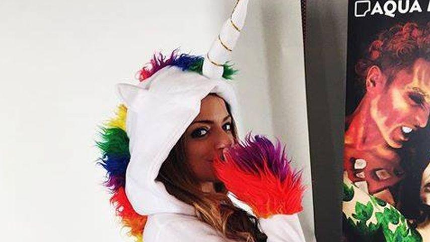 Bereit für Karneval: GZSZ-Anne Menden als süßes Einhorn