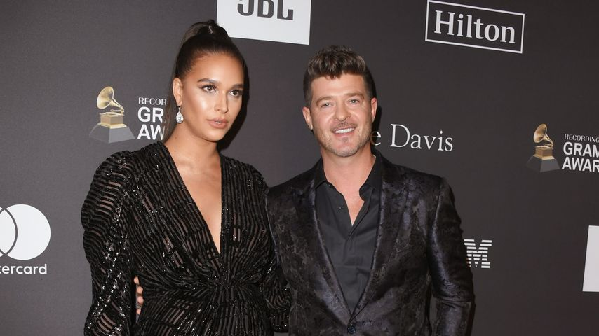 April Love Geary und Robin Thicke bei der Recording Academy and Clive Davis' 2019 Pre-GRAMMY Gala