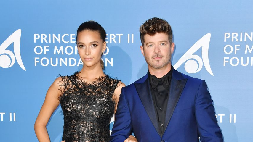 April Love Geary und Robin Thicke in Monaco