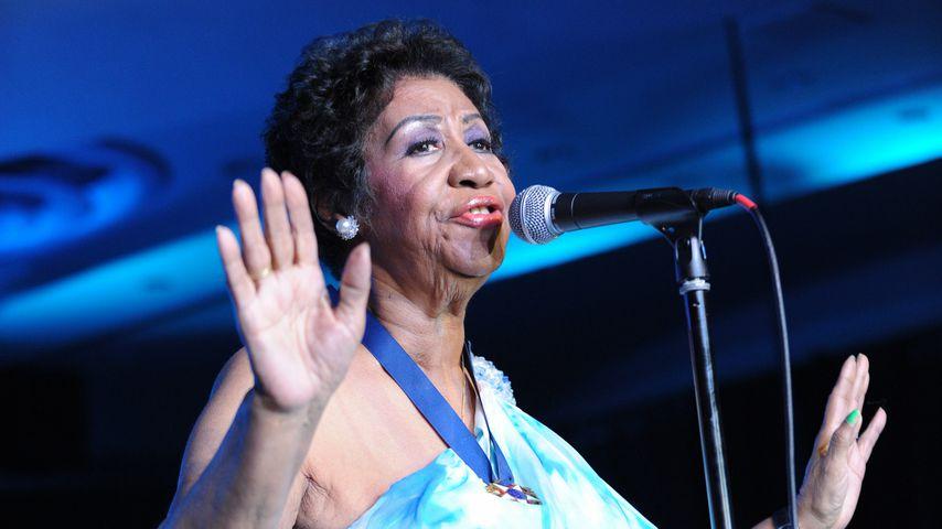 Aretha Franklin bei einem Konzert in Miami
