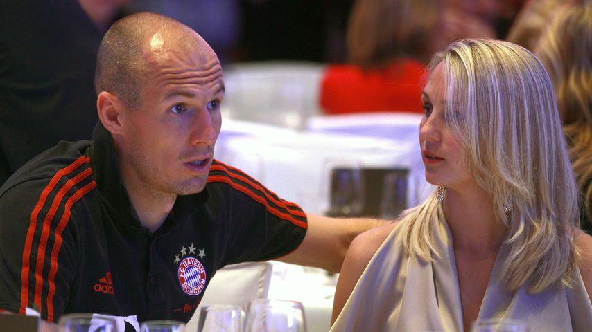 Arjen Robben und seine Frau Bernadien im Jahr 2012