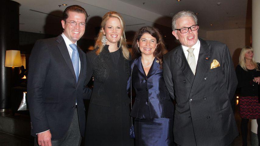 Karl-Theodor, Stephanie, Christiane und Enoch von und zu Guttenberg