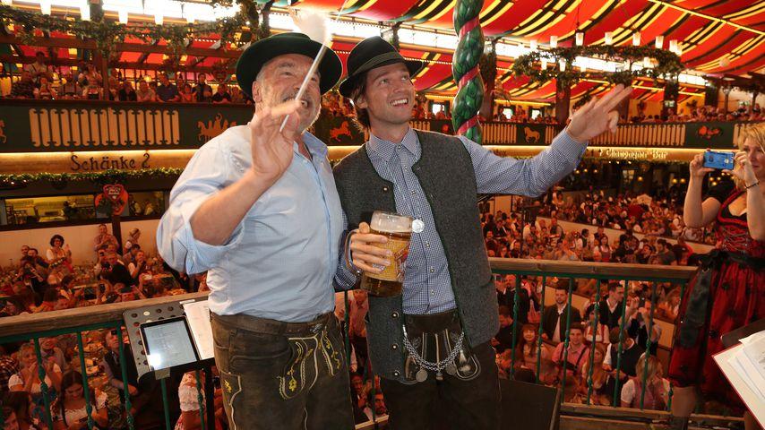 Arnold und Patrick Schwarzenegger am ersten Oktoberfest-Tag in München