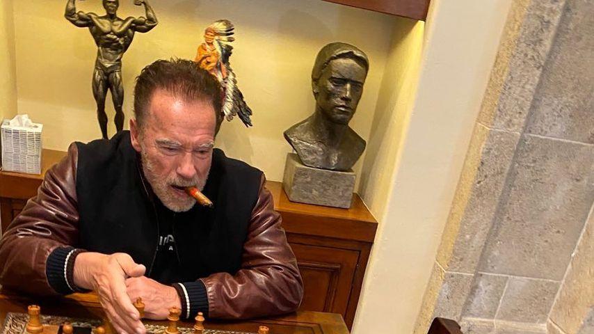 Arnold Schwarzenegger mit seinem Esel Lulu