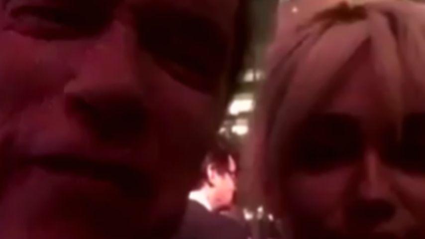 Miley Cyrus und Arnold Schwarzenegger