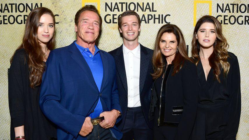 Arnold Schwarzenegger und Sohn Patrick mit der ganzen Familie in Los Angeles